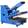 Plancha Mini Brildor Blue-e A4 con plato extraíble - Abierta - Vista lateral izquierda