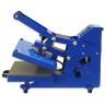 Plancha Mini Brildor Blue-e A4 con plato extraíble - Abierta - Vista lateral derecha