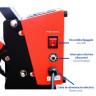 Plancha transfer Brildor A3.2 de doble plato de 40x50cm - Tablero de encendido/apagado