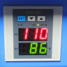 Plancha Transfer Brildor Blue 30x20cm - Detalle panel de control