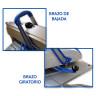 Plancha transfer manual XH1.1 de 40x50 - Detalle brazos