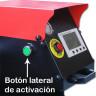 Plancha Transfer neumática Brildor de doble plato 40x50cm - Detalle Botón lateral de activación