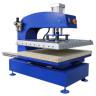 Plancha transfer neumática Brildor XH-B5 de 60x80cm - Vista diagonal con plato plegado