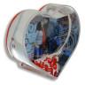 Portafotos corazón con corazones - Perfil