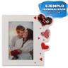 Portafotos de sobremesa con corazón de lentejuela Serie Alisia - Ejemplo personalizado