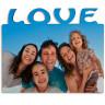 """Portafotos horizontal de madera de 180 x 150mm con texto """"Love"""" - Detalle ejemplo personalizado"""