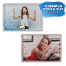 Portafotos rectangulares para agitar -  Ejemplos personalizados