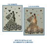 Portafotos de sobremesa con luz Serie Isabella - Muestra luz