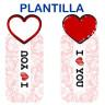 Portaservilletas de fieltro con corazón - Plantilla