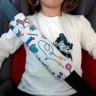 Protector acolchado para cinturón de seguridad - Muestra en uso