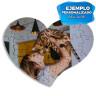 Puzzle Corazón de cartón para sublimación de 28 piezas - Ejemplo personalizado