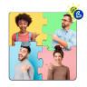 Posavasos Puzzle de madera para sublimación de 4 piezas - Ejemplo de personalización