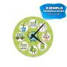 Reloj de aluminio 20,6 cm - Ejemplo de personalización