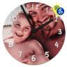 Panel redondo de 29cm para reloj sublimable Chromaluxe -  Ejemplo de uso y personalización