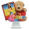 Reloj de mesa osito Teddy - Frontal