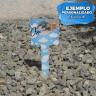 Señales de jardín para sublimación de 175 mm - Ejemplo personalizado identificador lápida mascota