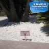 Señales de jardín para sublimación de 254 mm - Ejemplo personalizado señal rectangular