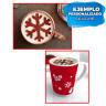 Set de 3 plantillas de Navidad en acero inoxidable - Ejemplo de uso para bebidas
