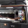 Sistema rellenable de tinta CISS para impresora Epson WF-7210dtw - Muestra ubicación sistema Mod.anterior