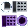 Soporte de sobremesa para cuchillas y herramientas Silhouette - Detalle de los compartimentos