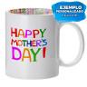 """Taza blanca con interior impreso diseño """"Dia de la Madre"""" - Ejemplo de personalización"""