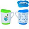 Taza para sublimación con base y tapa de silicona - Ejemplos de personalización