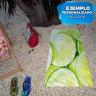 Toalla de playa sublimable a una cara 700 x 1400 mm - Ejemplo personalizado