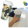 Vaso térmico de plástico con tapa de silicona - Ejemplo personalizado