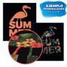 Vinilo textil SubliGLAM para sublimación - Aplicación vinilo naranja sobre camiseta