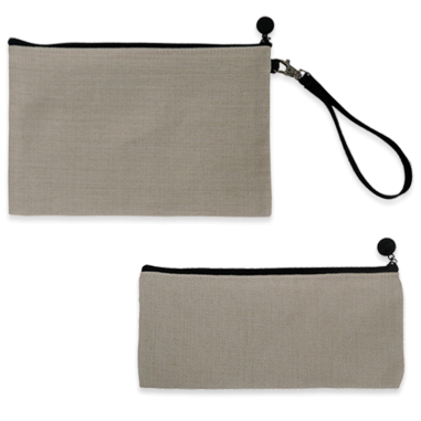 Sublimation Pencil Cases with zip - Imitation linen fabric