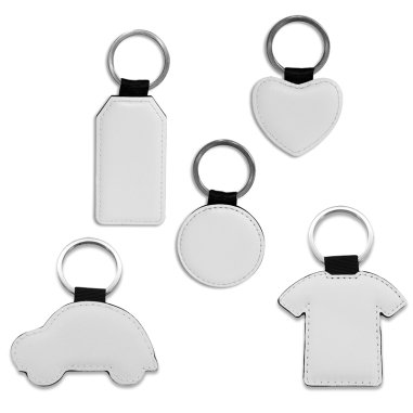 Sublimation Key Rings - Faux Leather