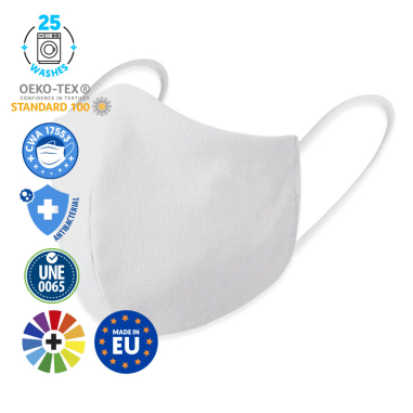 Reusable Face Masks - 3D - Certified - Antiviral & Antibacterial Treatment