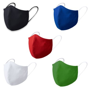Face masks for adults - 3D - Coloured