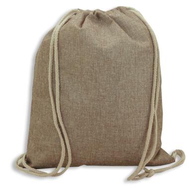 Sublimation Drawstring Bag - Imitation jute fabric