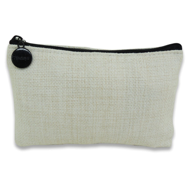 Sublimation Coin Purse with zip - 15 x 10 - Imitation linen fabric
