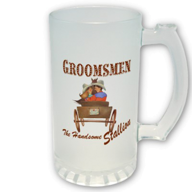 Sublimation Beer Stein - Frosted Glass - Personalised