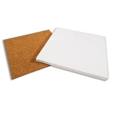Sublimation Coaster with cork back - Ceramic