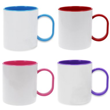 Sublimation Polymer Mug - Coloured Handle & Inside