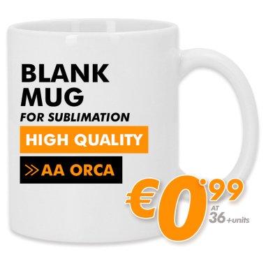 Sublimation Mug - ORCA Grade AA - High Quality