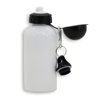 Sublimation Water Bottle with 2 caps - 500ml - Aluminium - White