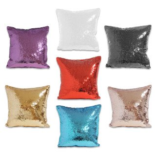 Sublimation Cushion Covers with reversible sequins - Square