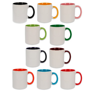 Sublimation Mug - Coloured Handle & Inside
