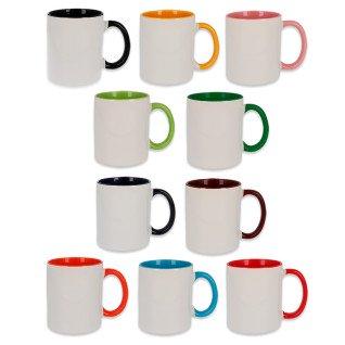 Sublimation Mug - Coloured Handle & Inside