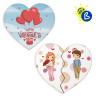Sublimation Fridge Magnets - Heart-shaped - Wood - Personalisation example