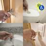 Contactless Door Opener - Matte Gold - Example of use