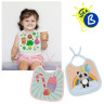 Sublimation Baby Bib - Cloth - Example of use and personalisation