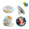 Button Badges - Ø75mm - Personalised badges - Models: compact mirror and photo stand