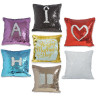 Sublimation Cushion Covers - Square - Colour of the reversible sequins with patterns