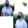 Reusable Face Mask with neck strap - 3D - Antiviral & Antibacterial Treatment - Example of use