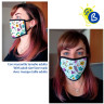 Sublimation Face Masks - Double Layer - White - Example of use and personalisation